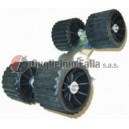 Staffa con rulli tipo diritto per rullo quadruplo
