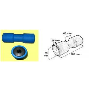 Rullo centrale foro Ø 21 mm. blu