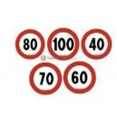 40 km/h - Segnale di velocità adesivo