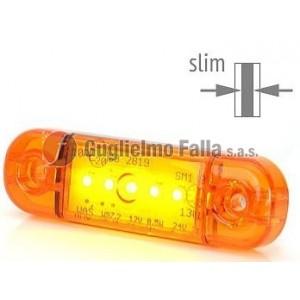 "Fanale d'ingombro a led ""slim"" arancio"