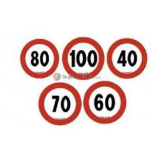 90 km/h - Segnale di velocità adesivo