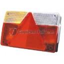 Fanale sx piccolo con triangolo e luce targa